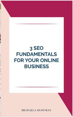 SEO for your business is important for growing your presence online. But where do you start, what do you need to know.here are the 3 fundamentals of SEO you need to understand to get started growing your online business. Marketing Plan, Business Marketing, Online Marketing, Online Business, Media Marketing, Seo Strategy, Site Internet, Pinterest For Business, Online Entrepreneur