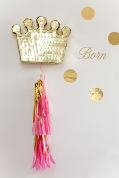 Pink & Gold Princess Birthday Party via Kara's Party Ideas Karas Pink Gold Party, Pink And Gold Birthday Party, 1st Birthday Parties, Pinata Party, Festa Party, Princess Birthday, Girl Birthday, Princess Pinata, Prince Party