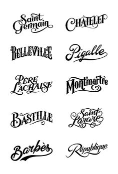 Parisian district stamps for the clothes brand Bleu de Paname by Tyrsa (the work of Alexis Taieb). Very nice lettering! Typography Letters, Graphic Design Typography, French Typography, Types Of Lettering, Hand Lettering, Lettering Styles, Schriften Download, Girls Tumblrs, Typographie Fonts