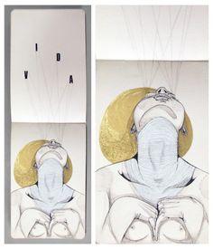 Linhas limpas, cheias de emoção e erotismo nos moleskines do artista paulista Gabriel Kieling. + http://gabrielkieling.com.br/