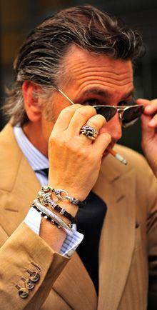 giampaolo alliata bracelets Bracelets pour homme, une spécificité italienne