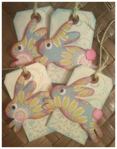 Six easter basket yellow baby chick daisy by alohacookiegirl easter bunny basket gift tag handmade shabby negle Images