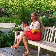 Beyoncé And Jay Z's Adorable Family Album - Beyoncé And Blue Spend A Dreamy Labour Day Weekend Together from InStyle.com
