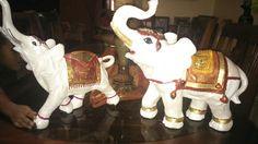 Elefante blanco en ceramica