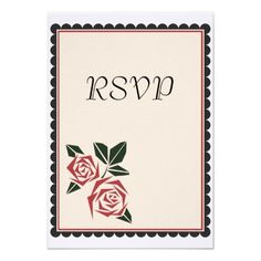 Someone in Orange Park, FL will be receiving 30 of these lovely Angular Roses RSVP Cards from #Zazzle!  :-D