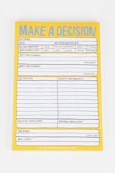 Get things done #Decisions