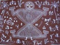 peinturewarli - présentation d'un art aborigène de l'Inde : l'art pictural Warli