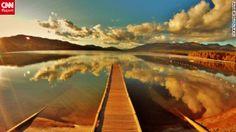 Whitefish Lake, Montana....I plan to take a running leap off of this dock.