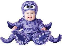 Baby Purple Octopus Infant Onesie Halloween Costume Large
