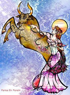Astrology collection Zodiac sign of Taurus, Parisa Shariatpanahi, SciFi Fantasy Art Taurus Art, Sun In Taurus, Taurus Moon, Astrology Taurus, Zodiac Signs Taurus, Virgo, Taurus Ascendant, Taurus Quotes, Moon Meaning
