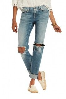 Scotch & Soda Supreme Distressed Straight Jeans in Beach Bandits Women - Jeans & Denim - Bloomingdale's Blue Ripped Jeans, Denim Jeans, Boyfriend Fit Jeans, Destroyed Jeans, Scotch Soda, Distressed Jeans, Supreme, Clothes, Shopping