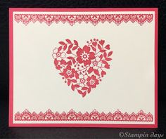 Stampin days; valentine card, Bloomin' Love, sunshine wishes, delicate details, Stampin' UP!