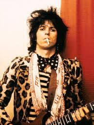 Rock n roll leopard print along with random patterns and accessories. This is the kind of look both boys and girls can pull off. It's very dirty and morning-after-the-night-before. I recently stopped smoking but, dare I say it, Keef makes it look effortlessly sexy.