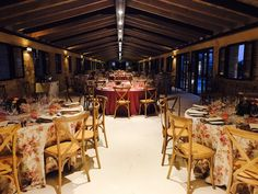 Sala Banquete oscurecida