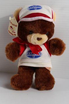 AMOCO STUFFED BEAR Vintage stuffed bear vintage by TheJellyJar