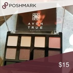 8 Eye Shadows - Nude Muse Great selections and combinations of various hues of neutral shades and glamor. 4 are glimmer and 4 are matte. Includes a mirror strip on lid and a sponge applicator. Avon Makeup Eyeshadow