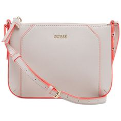 GUESS Isabeau Top Zip Cross Body ($75) ❤ liked on Polyvore