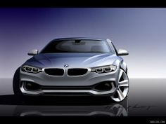 2014 BMW 4-Series Coupe Front - Design Sketch |