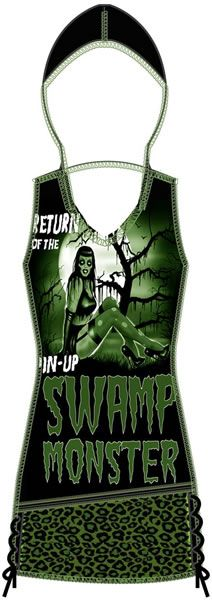 HADLEY HOODED TANK - PINUP SWAMP MONSTER TooFast Clothing Punk Rock Gothic Girls Tops Tees
