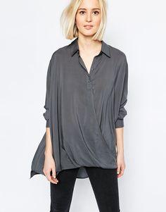 Weekday+Naima+Drape+Front+Shirt