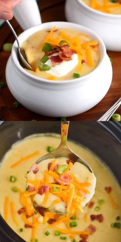 Crockpot Potato Soup Recipe (Totally From Scratch!) - Wine & Glue - Dinner Time - A delicious soup recipe that comes together in your slow cooker. Crock Pot Recipes, Best Soup Recipes, Crock Pot Soup, Slow Cooker Soup, Chili Recipes, Slow Cooker Recipes, Dinner Recipes, Cooking Recipes, Slow Cooking