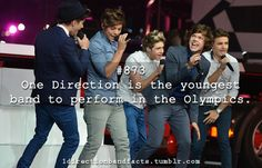 One Direction Facts! Who saw them on the Olympics? I DID!!!!