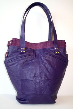 ON SALE OOAK Purple Grape Repurposed Leather Handbag by rookierags, $145.00