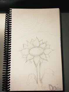 Girasol - Boceto 12/06/2012. Cosas que hago en papel para relajarme.