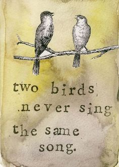 two birds never sing the same song - Google Search