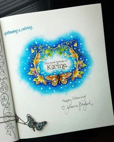 """324 Likes, 19 Comments - Karine Calabra (@drawing_n_coloring_) on Instagram: """"#johannabasford #johannabasfordcoloringbook the opening page with Johanna Basford signature…"""""""