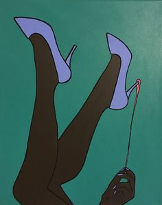 "Ugh! Gum! 16"" by 20"" canvas, acrylic   medium contemporary pop art painting by artist Liz Kelly Zook   wall art, stretched canvas, stretched canvas wall art, painting, pop art painting, contemporary pop art painting, colorful art, pop painting, home decor, nashville, pop artist, female pop artist, contemporary artist, paintings, nashville"