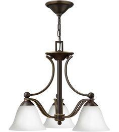 Hinkley 4653OB-OPAL Bolla 3 Light 23 inch Olde Bronze Chandelier Ceiling Light in Etched Opal #LightingNewYork