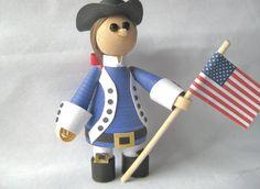3D Quilling: miniature Patriot