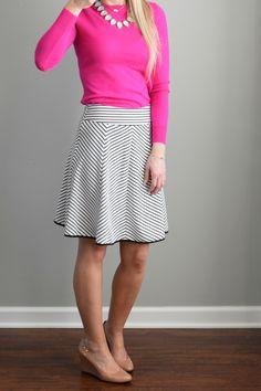 March 2016 Stitch Fix Review: Pixley Triste Swing Skirt  www.pearlsandsportsbras.com 