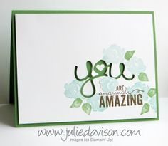 Stampin' Up! Painted Petals Thank You Card #occasions #stampinup www.juliedavison.com
