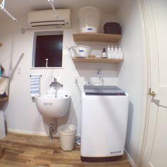 m_y_tさんの、バス/トイレ,平屋,室内干し,ランドリールーム,マーチソンヒューム,フレディレック,洗濯室,スロップシンク,ナスタ,のお部屋写真
