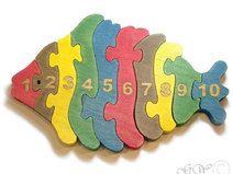 Holzpuzzle Fisch mit Zahlen                                                                                                                                                                                 Mehr