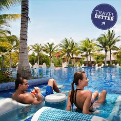 Lounge in the pool at #Barcelo Hotels & Resorts
