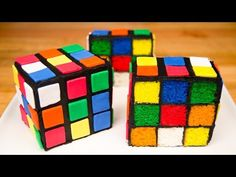 Rubik's Cube Cake from Cookies Cupcakes and Cardio - YouTube