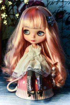 RESERVED Custom Blythe Doll, Strawberry Cupcake ~ By Blythe Blossom.
