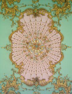 rococo ceiling charlottenburg detail schloss baroque wowgreat ceilings pastel interior architecture gold texture plasterwork