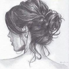Beautiful Hair-make (Pencil work)