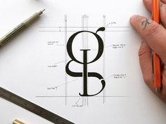 GL Monogram designed by James Martin. Connect with them on Dribbble; Monogram Design, Tag Design, Monogram Logo, Layout Design, Design Ideas, Typography Alphabet, Typography Fonts, Typography Design, Lettering