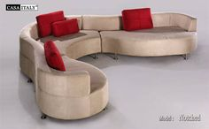 Corner - Modern - Fabric - Brown - Curve - Special
