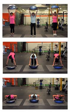 Bosu burpees...as if burpees aren't awful enough! I need one of these!