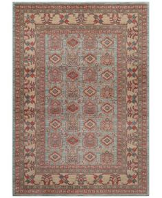 "Momeni Voyage Allover Kazak Light Blue 7'10"" x 9'10"" Area Rug"