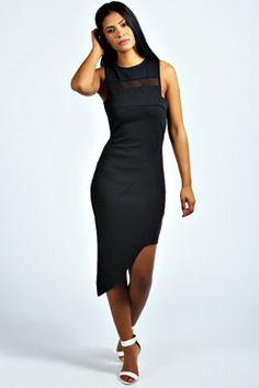 Alice Asymmetric Hem Bodycon Dress at boohoo.com Plus Size Bodycon Dresses 1c47ea4aab48b