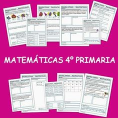 """Las """"Fichas de Matemáticas de 4º de Primaria"""" constituyen un conjunto de actividades de repaso del área de Matemáticas de 4º nivel de Educación Primaria. Están bien concebidas didáctica y estéticamente y comprenden algunos de los contenidos principales del nivel: números, operaciones y resolución de problemas."""