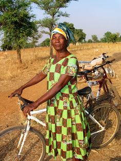 A woman in Ghana whose life has been transformed by The Village Bicycle Project.