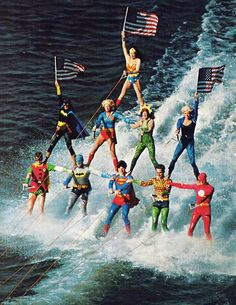"coolkidsofhistory:  ""Sea World Superheroes, performed from 1976 to 1979  """